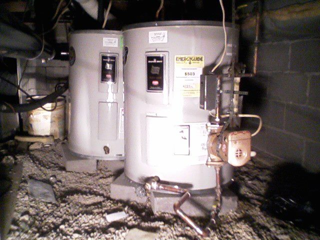 Installation Of Dual Low Boy Water Heaters In Crawl Space